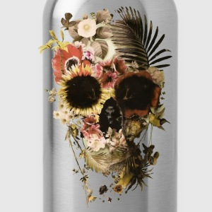 skull flower - Water Bottle