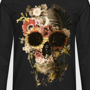 skull flower - Men's Premium Long Sleeve T-Shirt