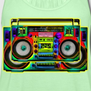Boombox Art - Women's Flowy Tank Top by Bella