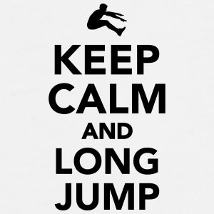 Keep calm and Long Jump Mugs & Drinkware - Men's Premium T-Shirt