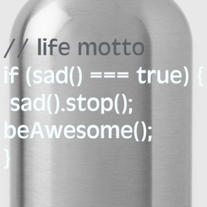the code of life - red - Water Bottle