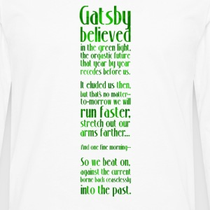 Gatsby and the Green Light - Men's Premium Long Sleeve T-Shirt
