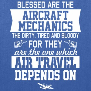 Blessed Are The Aircraft Mechanics Air Travel - Tote Bag