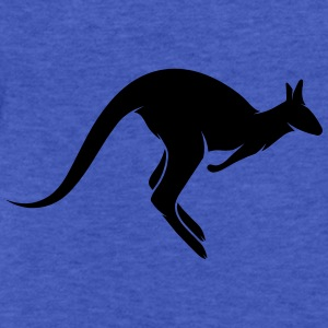 A hopping kangaroo Sweatshirts - Fitted Cotton/Poly T-Shirt by Next Level