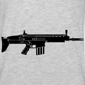 Scar Weapon Military Rifle Hoodies - Men's Premium Long Sleeve T-Shirt