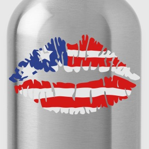 American flag lips Women's T-Shirts - Water Bottle