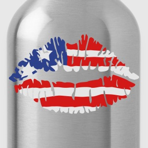 American flag lips Tank Tops - Water Bottle