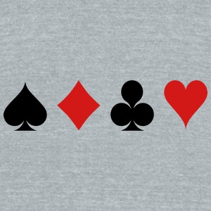 Card Game - Playind Card Caps - Unisex Tri-Blend T-Shirt by American Apparel