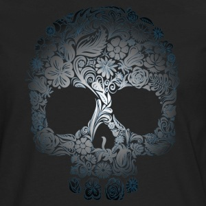 Floral Skull T-Shirts - Men's Premium Long Sleeve T-Shirt