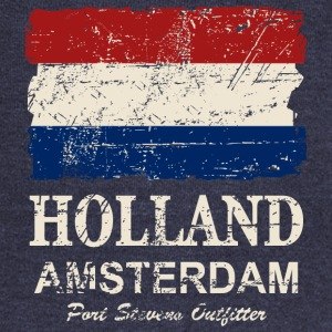 Holland Flag - Vintage Look  Hoodies - Women's Wideneck Sweatshirt