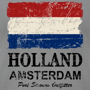 Holland Flag - Vintage Look  Long Sleeve Shirts - Men's T-Shirt by American Apparel