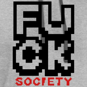 fsociety | fuck society | mr. robot - Contrast Hoodie