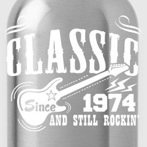 Classic Since 1974 And Still Rockin' T-Shirts - Water Bottle