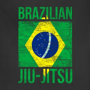 Brazilian Flag Jiu Jitsu T-shirt Women's T-Shirts - Adjustable Apron