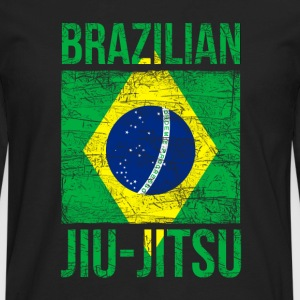 Brazilian Flag Jiu Jitsu T-shirt Women's T-Shirts - Men's Premium Long Sleeve T-Shirt