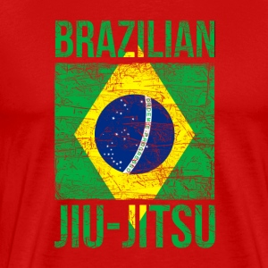 Brazilian Flag Jiu Jitsu T-shirt Tank Tops - Men's Premium T-Shirt