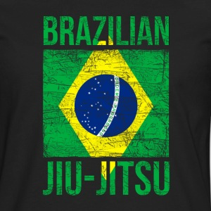 Brazilian Flag Jiu Jitsu T-shirt Tank Tops - Men's Premium Long Sleeve T-Shirt