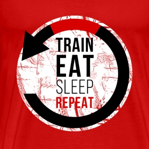 Train Eat Sleep Repeat Jiu Jitsu T-shirt Tanks - Men's Premium T-Shirt