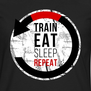 Train Eat Sleep Repeat Jiu Jitsu T-shirt Tank Tops - Men's Premium Long Sleeve T-Shirt
