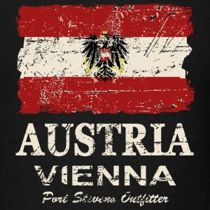Austria Flag - Vintage Look  Long Sleeve Shirts - Men's T-Shirt