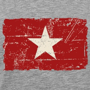 Vietnam Flag - Vintage Look  Hoodies - Men's Premium T-Shirt