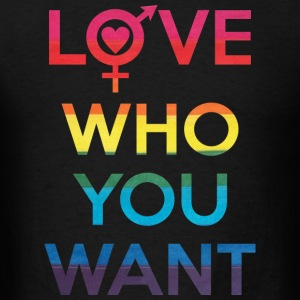 Love Who You Want LGBT Pride Tank Tops - Men's T-Shirt
