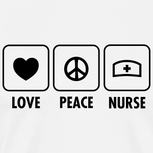 Love - Peace - Nurse Hoodies - Men's Premium T-Shirt