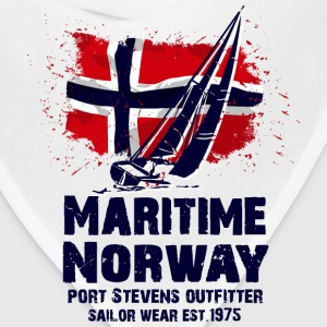 Maritime sailing - Norway flag - Vintage look Long Sleeve Shirts - Bandana