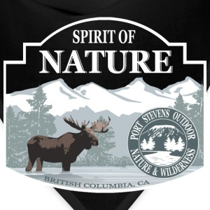 Spirit of nature - Moose in British Columbia Women's T-Shirts - Bandana