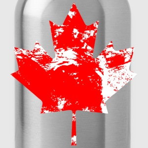 Canadian Maple Leaf - Vintage Look Tanks - Water Bottle