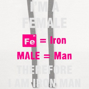 I'M A FEMALE = IRON MAN Tanks - Contrast Hoodie