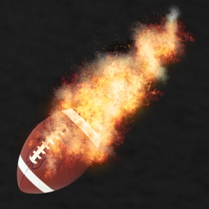 Flaming Football - Men's T-Shirt