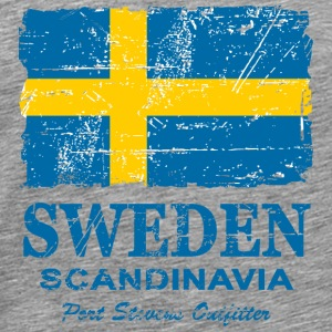 Sweden Flag - Vintage Look Hoodies - Men's Premium T-Shirt