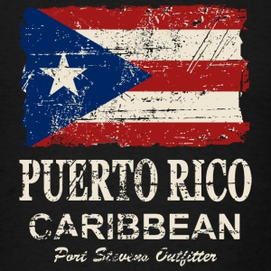 Puerto Rico Flag - Vintage Look Hoodies - Men's T-Shirt