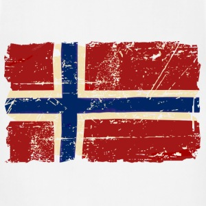 Norway Flag - Vintage Look T-Shirts - Adjustable Apron
