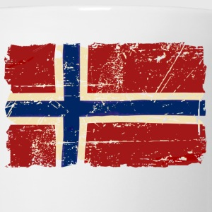 Norway Flag - Vintage Look Hoodies - Coffee/Tea Mug
