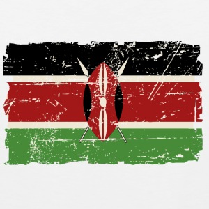 Kenya Flag - Vintage Look T-Shirts - Men's Premium Tank