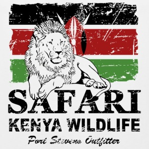Lion Kenya Flag - Vintage Look T-Shirts - Men's Premium Tank