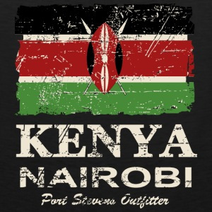 Kenya Flag - Vintage Look Hoodies - Men's Premium Tank