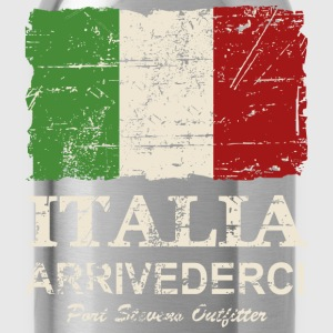 Italy Flag - Vintage Look Long Sleeve Shirts - Water Bottle