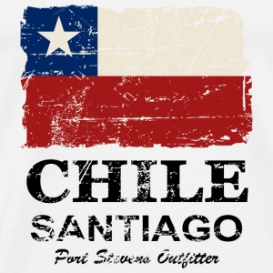 Chile Flag - Vintage Look Tanks - Men's Premium T-Shirt