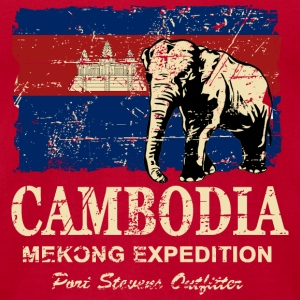 Cambodia Flag - Vintage Look Tanks - Men's T-Shirt by American Apparel