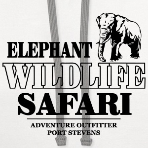 Elephant Wildlife Safari Tanks - Contrast Hoodie