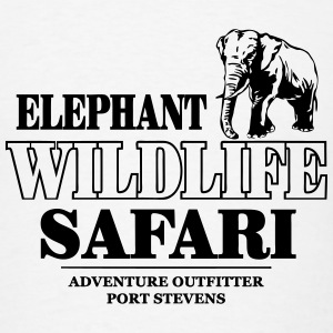 Elephant Wildlife Safari Hoodies - Men's T-Shirt