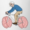 Albert Einstein Riding Bike With Brain Wheels Mugs & Drinkware - Coffee/Tea Mug