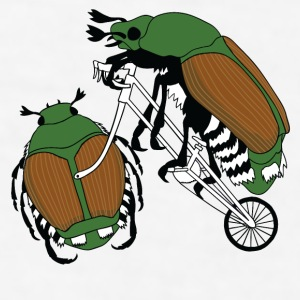 Japanese Beetle Riding Bike/ Japanese Beetle Wheel Mugs & Drinkware - Men's T-Shirt