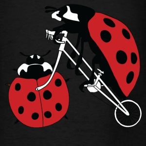Ladybug Riding Bike With Ladybug Wheel Bags & backpacks - Men's T-Shirt