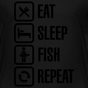 Eat -  sleep -fish - repeat Kids' Shirts - Toddler Premium T-Shirt