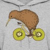 Kiwi Riding Bike With Kiwi Wheels Hoodies - Women's Hoodie