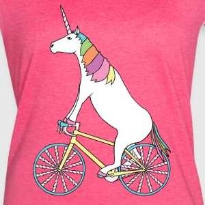 Unicorn Riding Bike With Unicorn Horn Spoked Wheel Tanks - Women's Vintage Sport T-Shirt